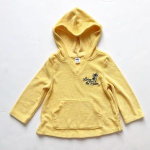 Old Navy yellow terry hoodie GUC 18-24 months